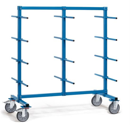 Fetra 4624-1/4625-1/4626-1 Tragarmwagen, 500 kg, 24 Tragarme zweiseitig, mit PVC-Schlauch überzogen