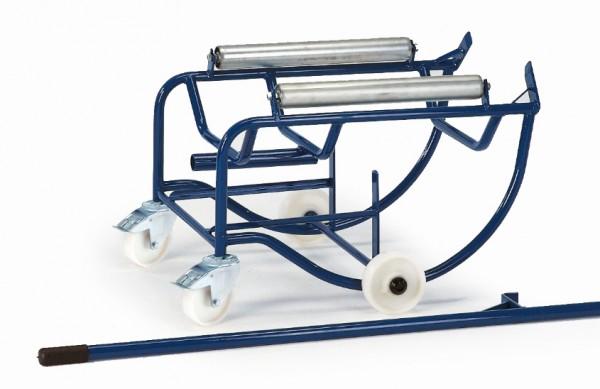 ROLLCART Fasskipper, 200 Liter, Metallrollen, 18-3202