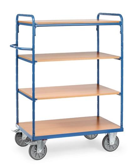 Fetra 8200/8201/8202/8203 Etagenwagen mit vier Böden aus Holz