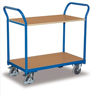 VARIOfit Tischwagen mit zwei Ladeflächen, eine einhängbar, sw-500.502/sw-600.502