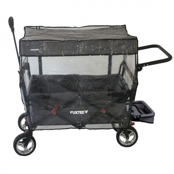 FUXTEC Regenschutz transparent für Bollerwagen CT800 und CT850