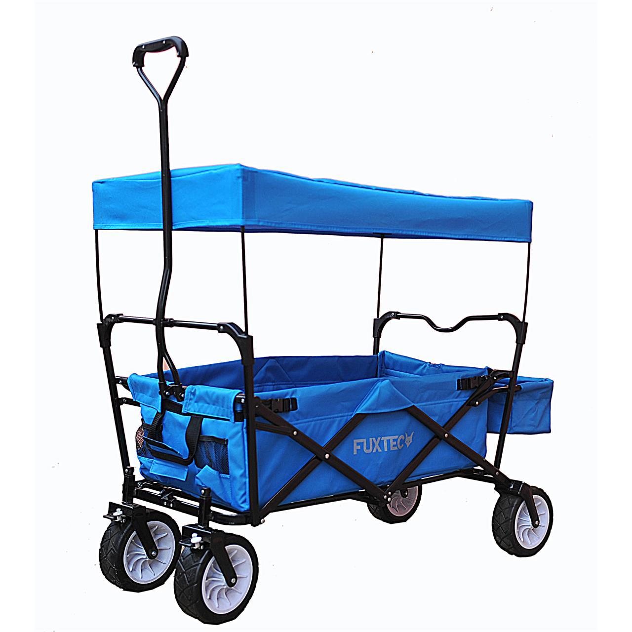 fuxtec bollerwagen fx bw 100 blau faltbar fuxtec marken bollerwagen transportwagen. Black Bedroom Furniture Sets. Home Design Ideas