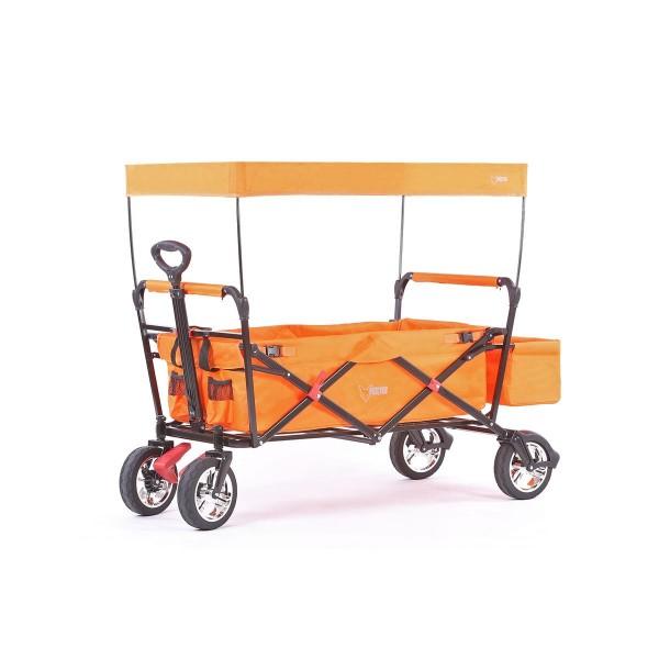 FUXTEC Bollerwagen CT-500OR orange mit Dach