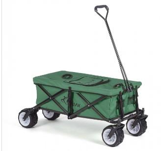 faltbarer Bollerwagen, offroad cool grün