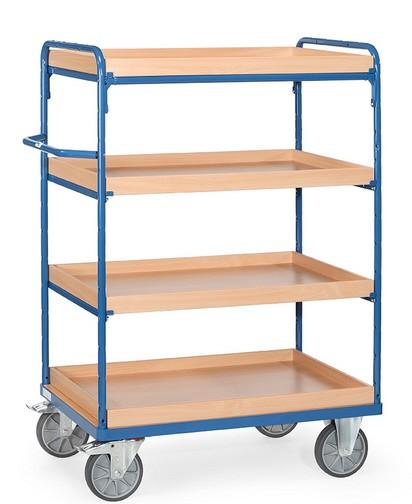 Fetra 8220/8221/8222/8223 Etagenwagen mit vier Kästen aus Holz