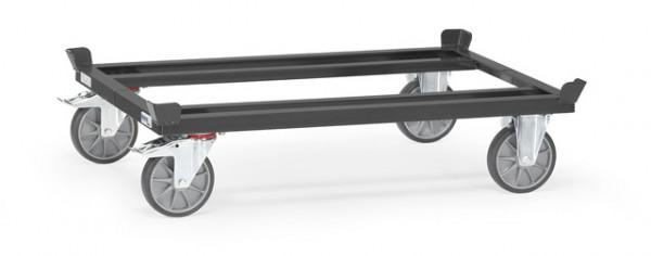 """Fetra 22801 7016 Paletten-Fahrgestell """"GREY EDITION"""" 750 kg, für Flachpaletten und Gitterboxen, TPE"""