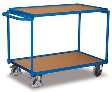 VARIOfit Leichter Tischwagen mit zwei Ladeflächen sw-500.501/sw-600.501