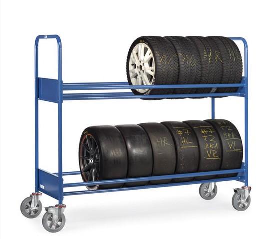Fetra 4588 Reifenwagen, 500 kg, mit zwei Ladeflächen, verstärkte Ausführung