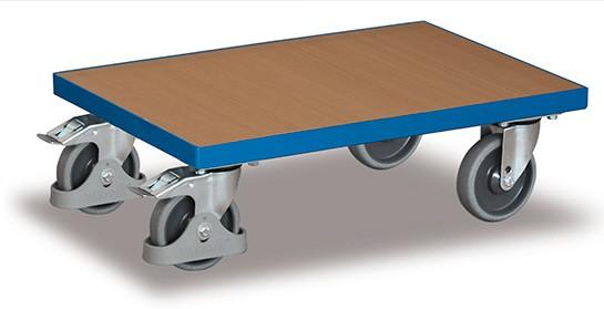 VARIOfit Euro-Roller, Ladefläche aus Holz mit Rand (nicht erweiterbar) sw-410.010