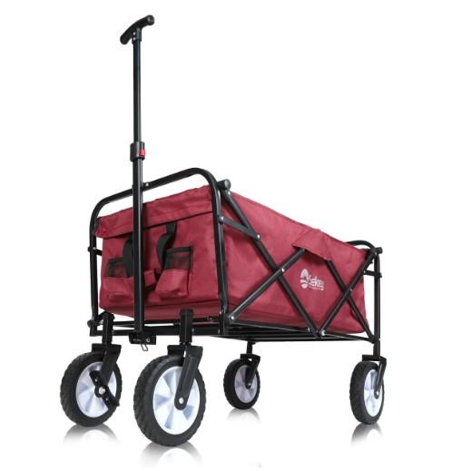 Sekey faltbarer Bollerwagen in Rot