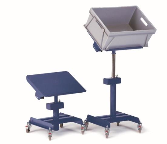 ROLLCART Neigbarer Materialständer, 150 kg Tragkraft, 164385 164387