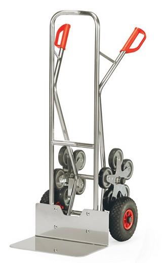 Fetra AK 1328 Treppenkarren Alu 200 kg, fünfarmige Rad-Sterne, Luft,breite Schaufel