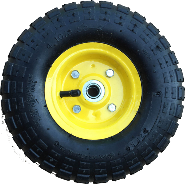 Ersatzrad Transportwagen 16 mm Achse Gelb 4.10 / 3,50 - 4