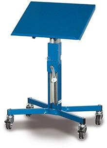 VARIOfit Materialständer mit Handkurbel, höhenverstellbar 655-1045 mm, sw.405.012
