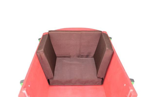 Bollerwagen Sitzkissen Braun
