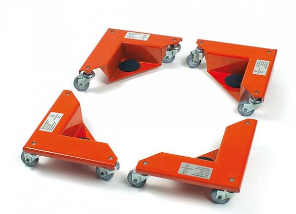 Fetra 6977 Eckenroller 150 kg je Stück, je drei Lenkrollen