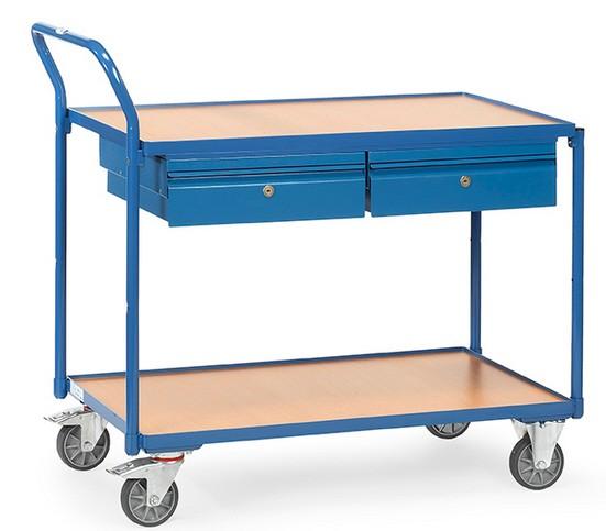 Fetra 2622 Tischwagen mit zwei Stahlblechschubladen