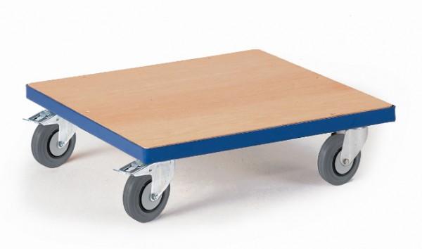 ROLLCART Breiter Kistenroller mit Holzladefläche, 250 kg Tragkraft, 03-4037