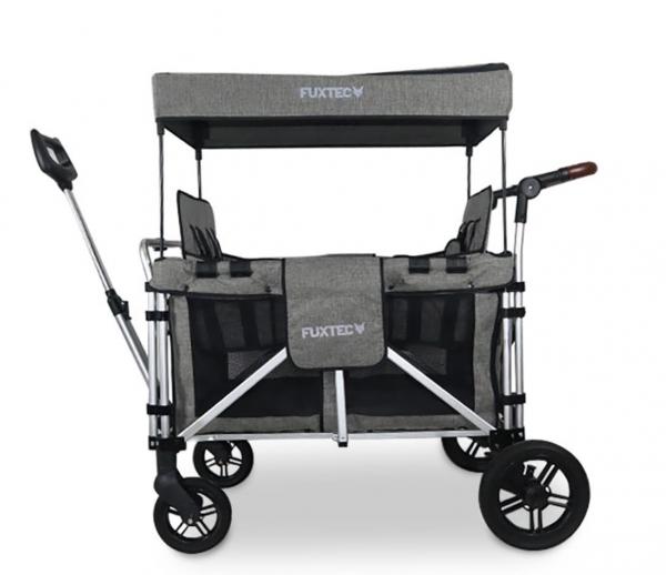 FUXTEC 4-Sitzer XL Luxus Bollerwagen FX-CTXL900 Premium Grau
