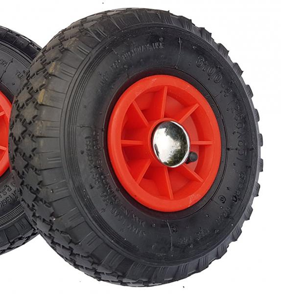 Frosal Ersatzrad Nabe 25mm/75mm - Rad für Bollerwagen oder Sackkarre mit Achsstopfen