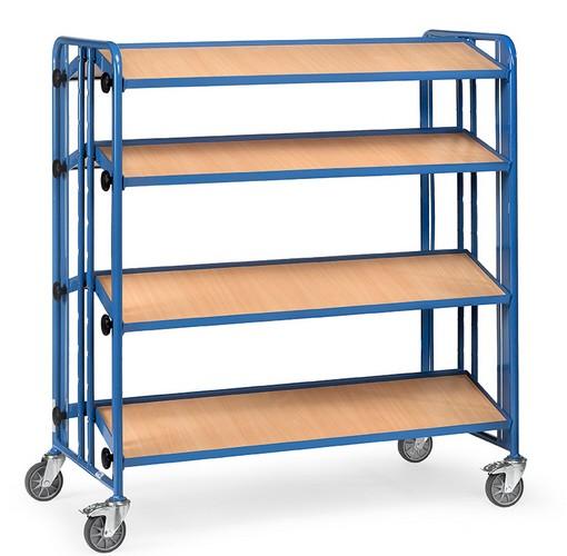 fetra 2891 montagewagen mit drei neigbaren b den aus holz plattformwagen transportwagen. Black Bedroom Furniture Sets. Home Design Ideas