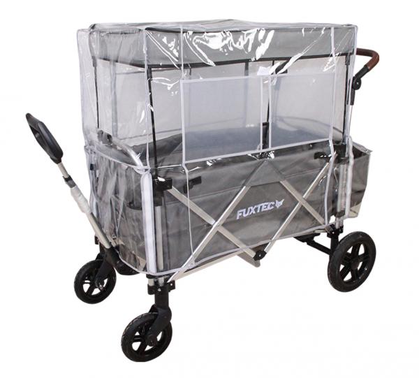FUXTEC Regenschutz transparent für Bollerwagen CT900