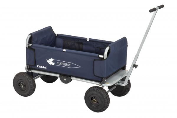 Eckla Express faltbarer Bollerwagen pannensicher silber/blau