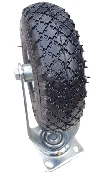 Lenkrolle Ø 260 x 85 mm | 3.00-4 Rad | Luftrad auf Stahlfelge Silber