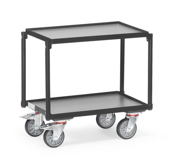 """Fetra 13540 7016 Etagen-Roller """"GREY EDITION"""" 250 kg, mit zwei Böden aus Holz, mit Rand"""
