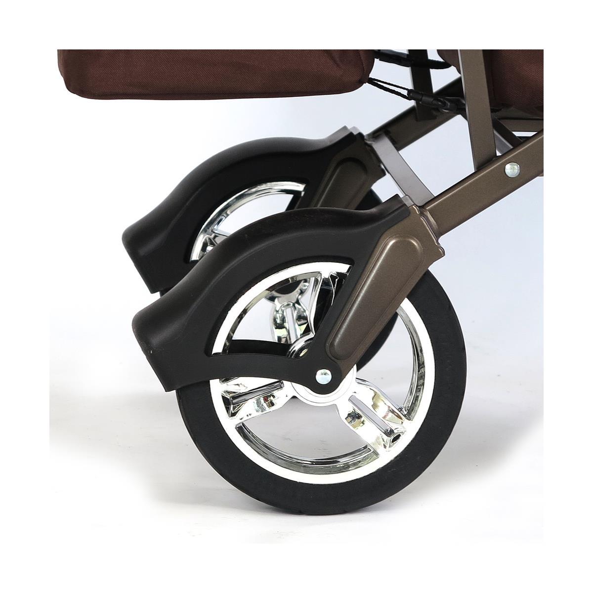 fuxtec bollerwagen ct 500br braun mit dach faltbar fuxtec marken bollerwagen. Black Bedroom Furniture Sets. Home Design Ideas