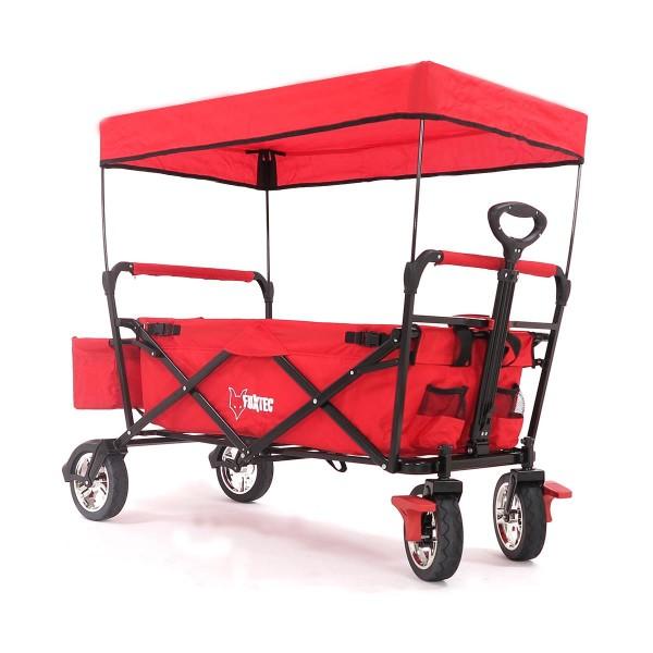 Faltbarer Bollerwagen Fuxtec rot