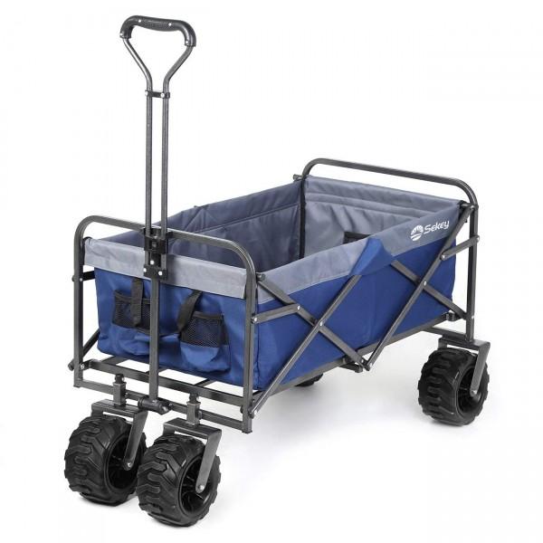 Sekey faltbarer Bollerwagen blau