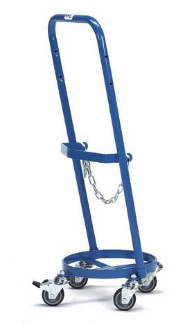 Fetra 51160 Stahlflaschenroller, 80 kg, für eine Propangasflasche 11 kg Inhalt