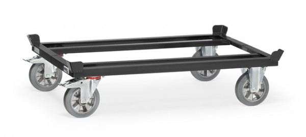 "Fetra 22811 7016 Paletten-Fahrgestell ""GREY EDITION"" 1200 kg, Elastic-Vollgummi-Bereifung"