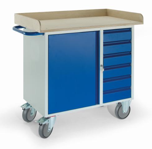 rollcart werkstattwagen mit rand sechs schubladen ein stahlschrank 400 kg tragkraft 07 4367. Black Bedroom Furniture Sets. Home Design Ideas