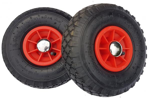 2 x Ersatzrad - Rad für Bollerwagen oder Sackkarre 20mm mit Achsstopfen