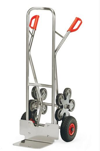 Fetra AK 1327 Treppenkarren Alu 200 kg, fünfarmige Rad-Sterne, Luftreifen