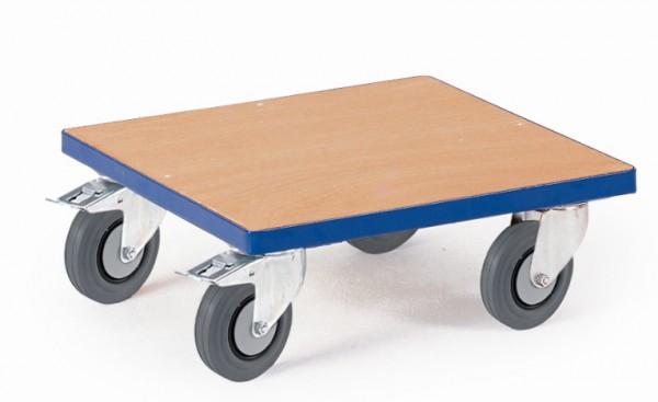 ROLLCART Kistenroller mit Holzladefläche, 250 kg Tragkraft, 03-4015