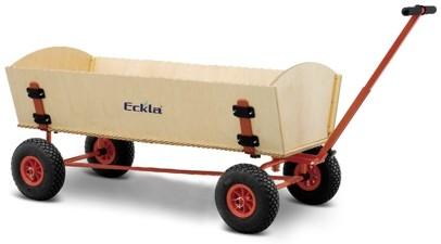 Bollerwagen Eckla XXL FUN Hinterachslenkung pannensichere Bereifung