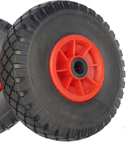 Ersatzrad - PU Rad Nabe 25mm/75mm für Bollerwagen oder Sackkarre pannensicher