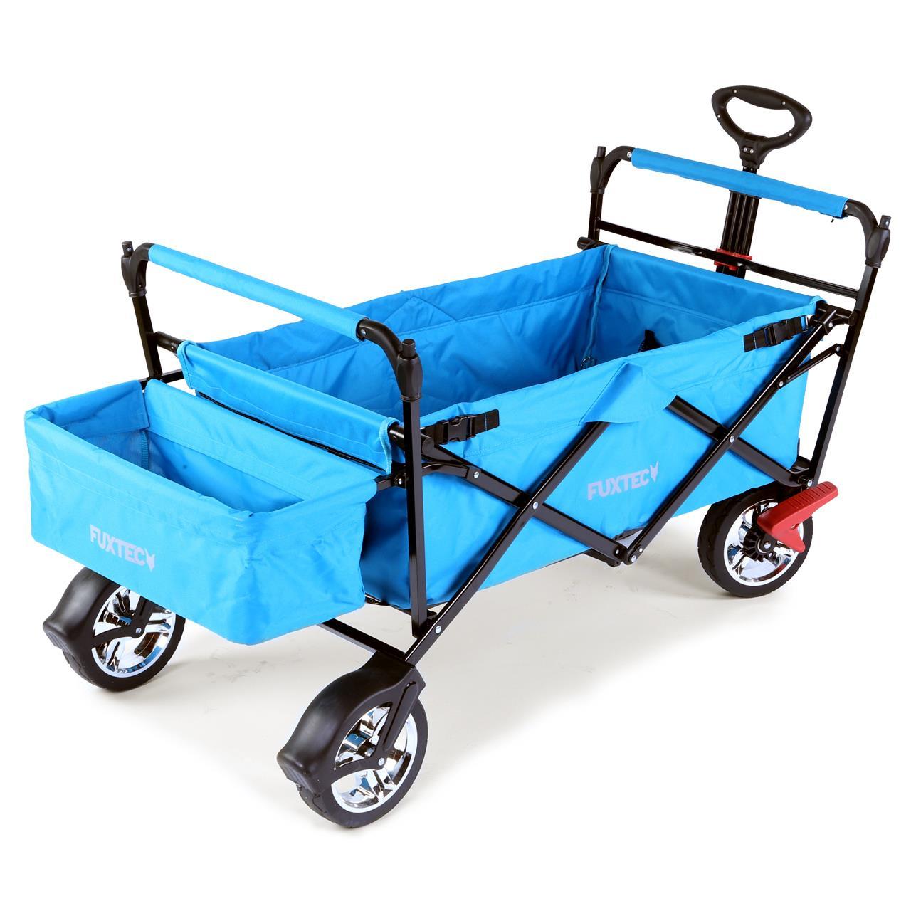 fuxtec bollerwagen ct 500atb t rkis mit dach faltbar bollerwagen faltbar bollerwagen. Black Bedroom Furniture Sets. Home Design Ideas