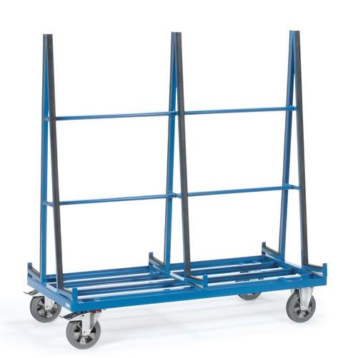 Fetra 4474/4475/4476 Plattenwagen, 1200 kg, zweiseitige Anlage mit Profilgummi