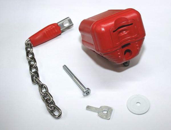 Diebstahlsicherung: Eckla Pfandsystem mit Schlüssel