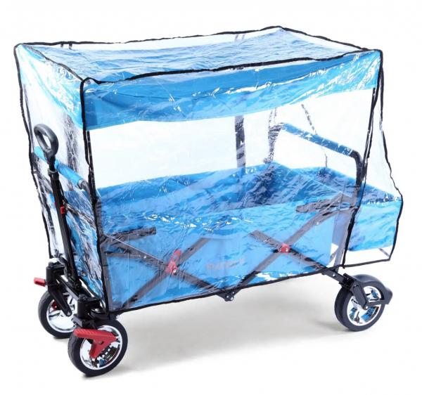 FUXTEC Regenschutz transparent für Bollerwagen JW76C