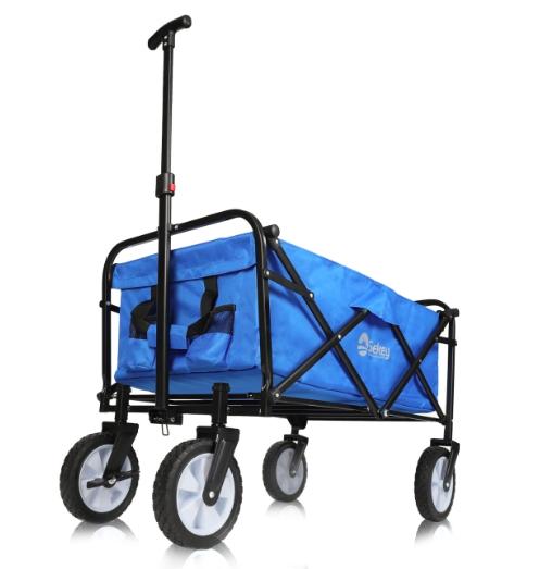 Sekey faltbarer Bollerwagen in Blau