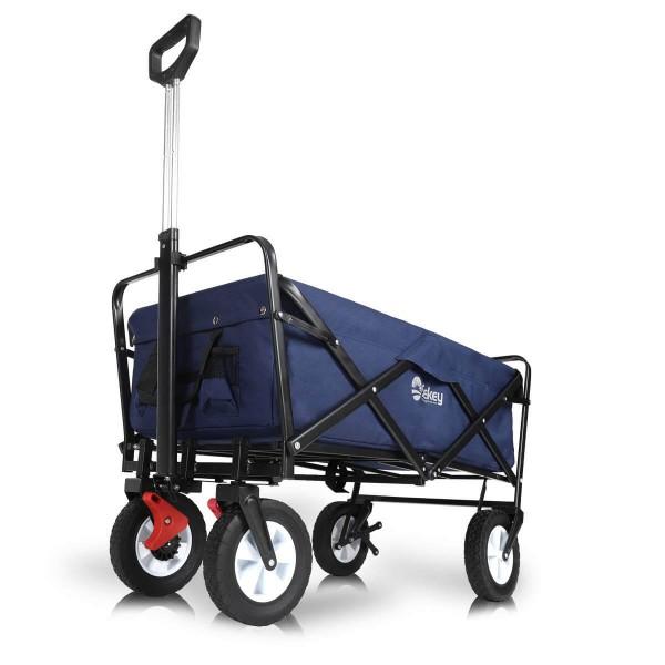 Sekey faltbarer Bollerwagen mit Bremse Blau